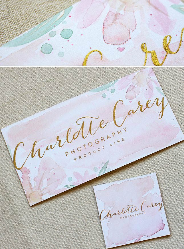 Best 25 watercolor business cards ideas on pinterest art maria c gold foil and watercolor branding stationery reheart Images