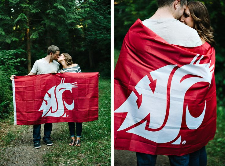Go Cougs! WSU washington state university engagement photos
