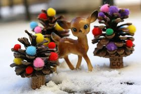 super fun kids crafts pine cone crafts for kids christmas trees with