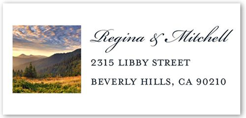 Address Labels: Grid Gallery, Square, Dynamiccolor