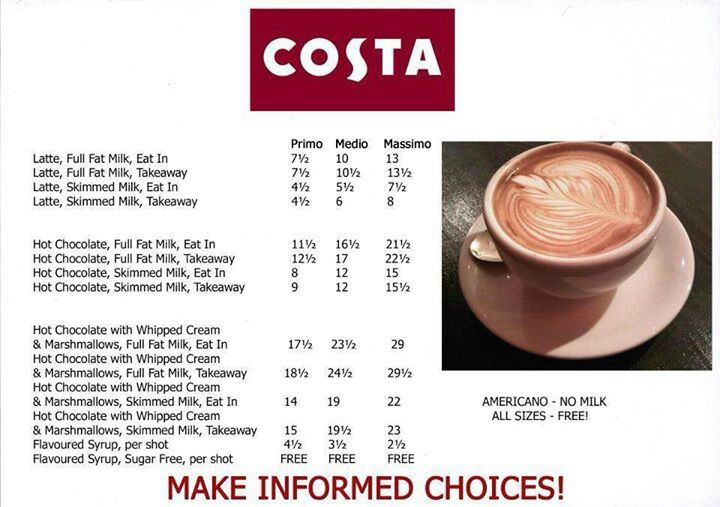 Costa #slimmingworld