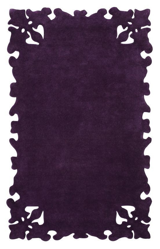 Rugs USA Couture Simplicity Purple Rug Black75 Code For 75 Percent Off Black Friday