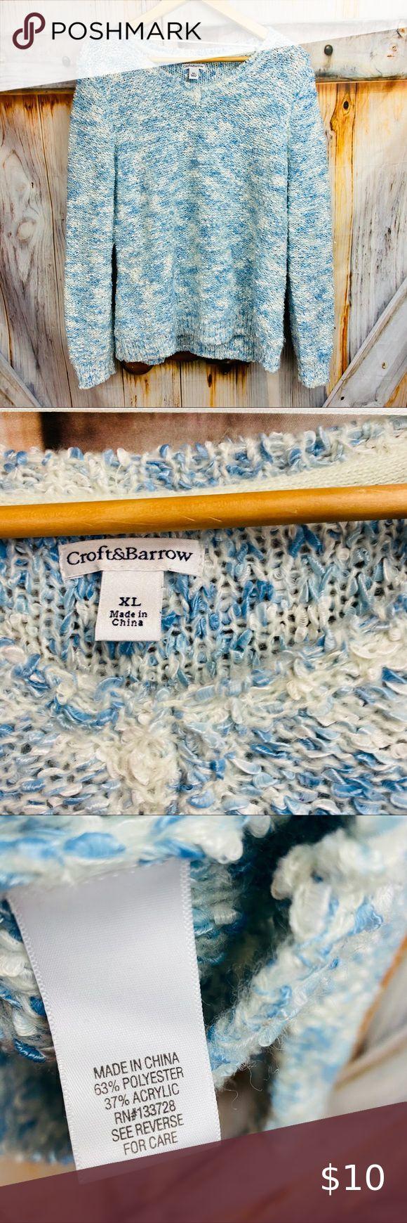 Nwot Croft Barrow Fuzzy Crewneck Sweater Crew Neck Sweater Croft Barrow Crew Neck [ 1740 x 580 Pixel ]