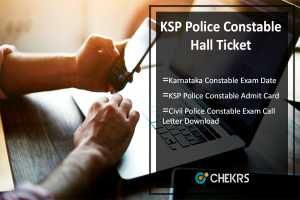Karnataka State Police Constable Hall Ticket 2017 KSP Admit Card, Exam Date Releasing Soon