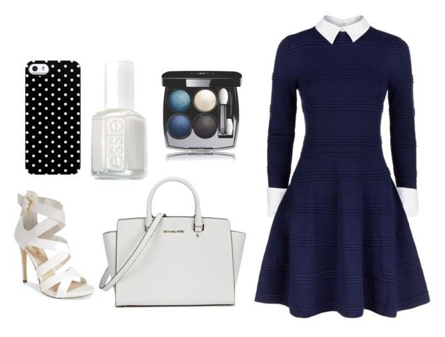"""""""Elegant blue look"""" by dadacookie on Polyvore featuring Alice + Olivia, GUESS, Michael Kors, Uncommon, Essie and Chanel"""