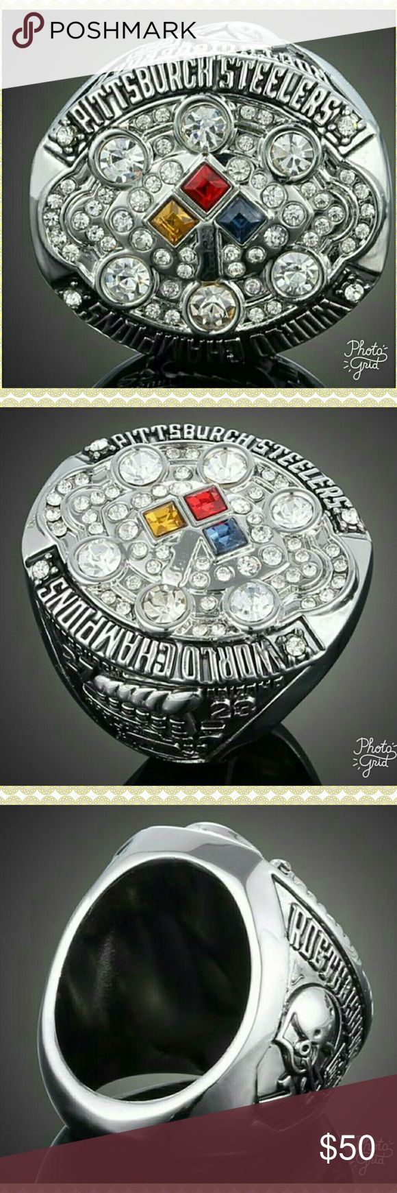 🆕 🏈 NFL SUPER BOWL RING 🏈 2008 NFL PITTSBURGH STEELERS RING. 🏈 Accessories Jewelry