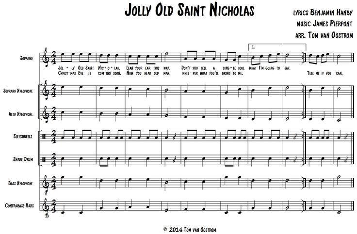 Jolly Old Saint Nicholas Orff Arrangement                                                                                                                                                                                 More                                                                                                                                                                                 More