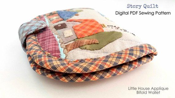 Digital pdf download sewing pattern little house applique bifold