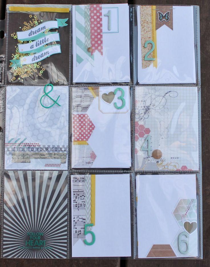 REACH One Little Word album by Kate van der Pol, using Polly! Scrap Kits February Salted Caramel Icecream pocket scrapbooking kit