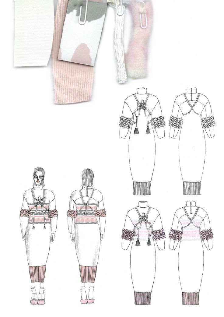 Fashion Sketchbook - fashion drawings & textile samples; creative process; fashion portfolio // Giryung Kim