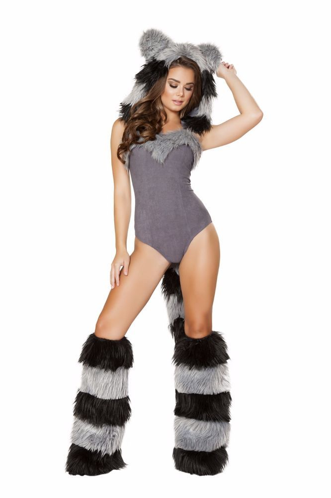 ROMA 1PC FURRY RACCOON PARTY COSTUME #Roma #party