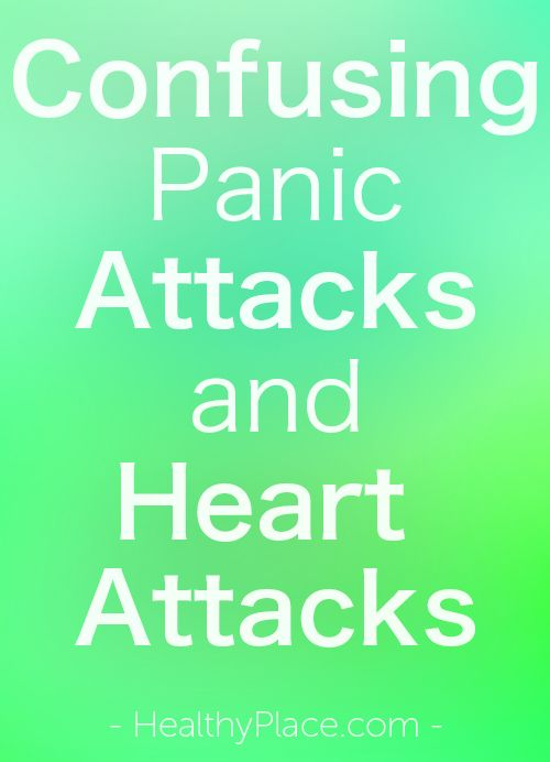 """Discover why people confuse panic attacks and heart attacks. Includes facts on heart attack vs panic attack."" www.HealthyPlace.com"