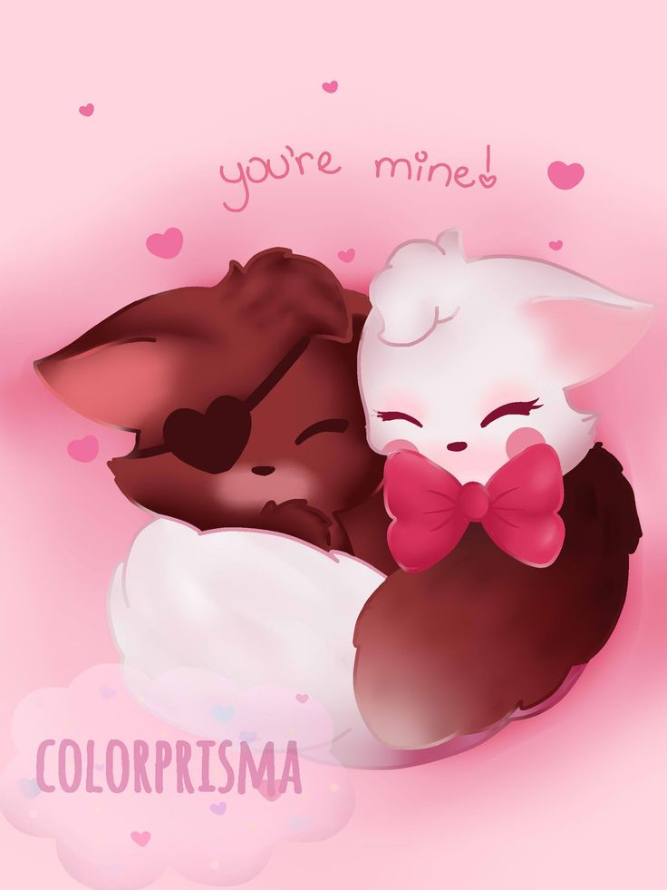 Foxy and Mangle this is so ADORABLE!! O>.