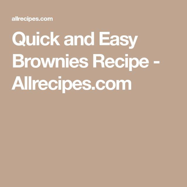 Quick and Easy Brownies Recipe - Allrecipes.com