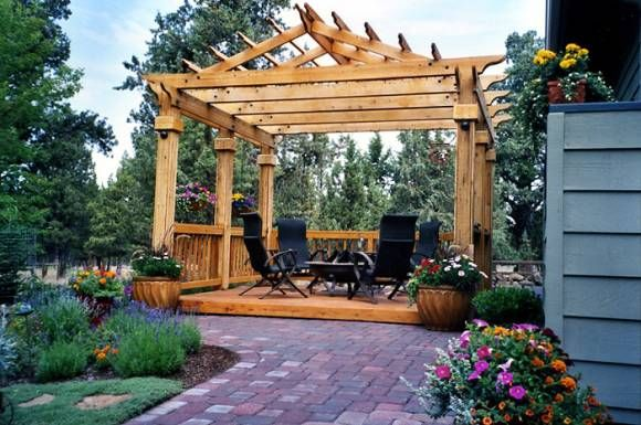 The Pitched Pergola I Want For My Back Yard Added To My