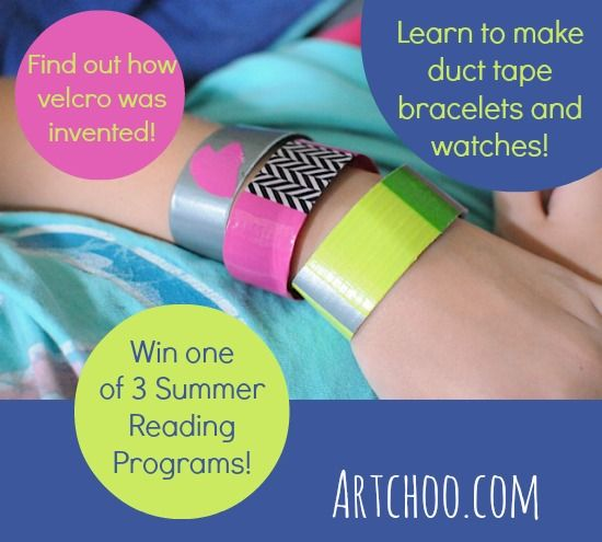 Easy to make Duct Tape Bracelets and watches plus Summer Reading and a Giveaway too!