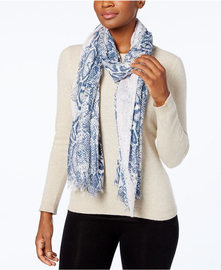 Steve Madden Urban Reptile Wrap & Scarf in One