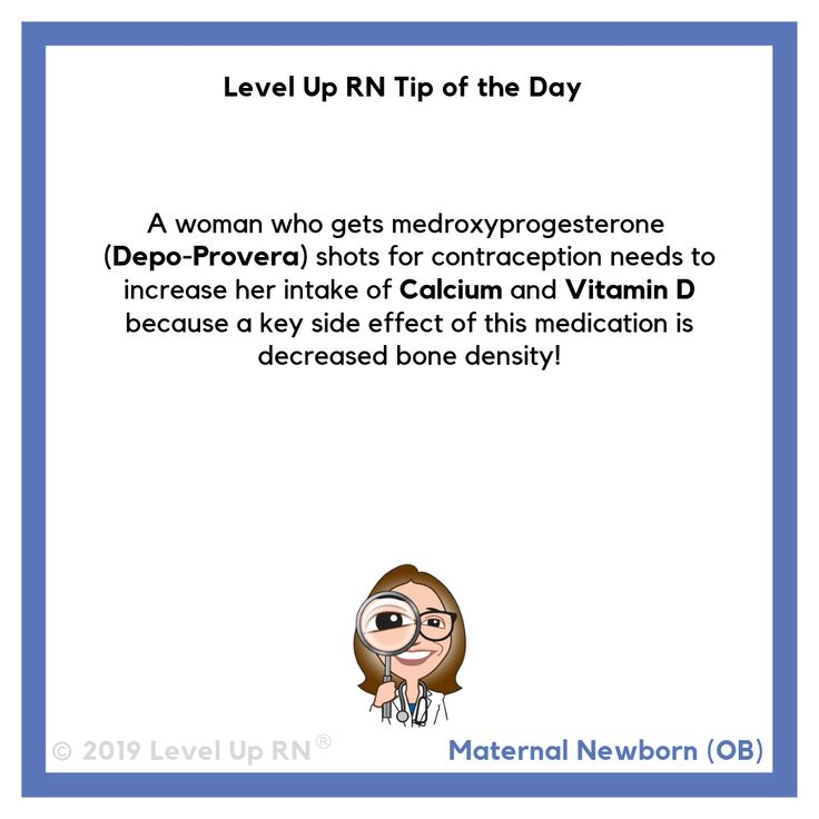 what are the side effects of depo provera shot