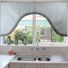 Tratamentos de janela de alto grau Jacquard requintado arco ganhos saia para cozinha porta cortinas ( 35 * 38 * 14 )(China (Mainland))