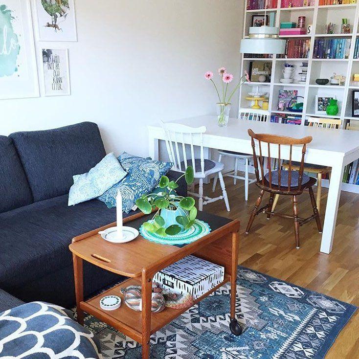 schäslong soffa ~ mörkgrå soffa med schäslong, soffbord i teak och fin