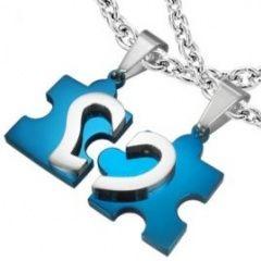 Modré partnerské puzzle pro naději!