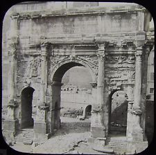 Glass Magic Lantern Slide THE ARCH OF SEVERUS C1890 ROME PHOTO ROMA PHOTO