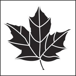 Maple-leaf stencil - Could use four of these of different colors, one in each corner
