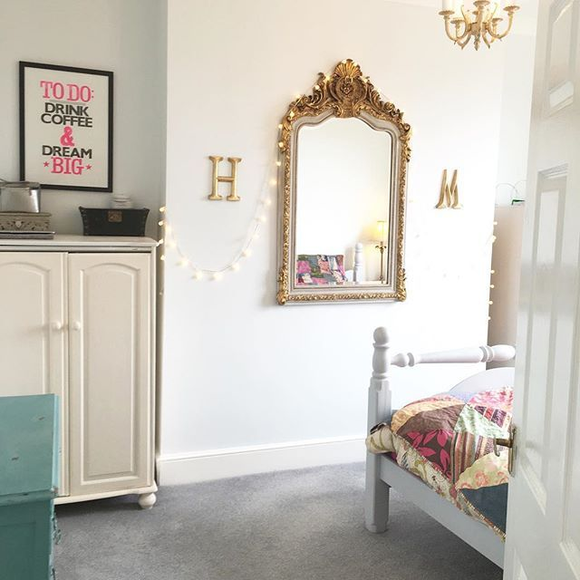 Once in A life time opportunity to see the bedroom this tidy. Probably never to be repeated. #home #decor #eclectic #bedroom #mirror #fairylights #bohodecor