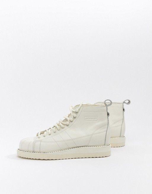 Adidas Originals Superstar Boot Sneakers In Triple White In 2018