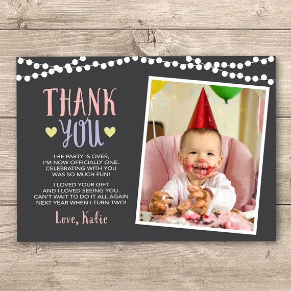 96 best Childrens Invitations images – Personalised 1st Birthday Thank You Cards