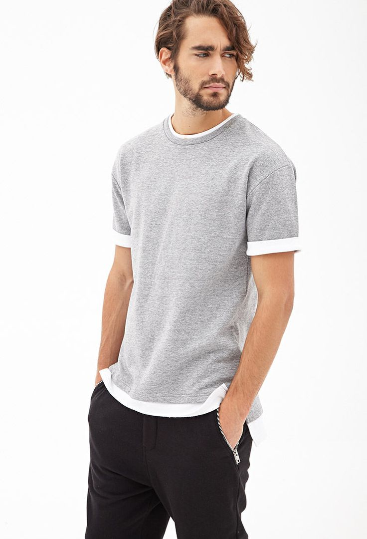 Short-Sleeve Colorblock Sweatshirt #21Men
