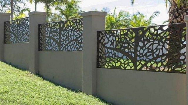 55 Lovely Modern Home Gates Design Ideas Metal Fence Panels