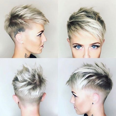 "3,035 Likes, 17 Comments - #BuzzCutFeed (@buzzcutfeed) on Instagram: ""Stunning Undercut Pixie Hair By @bymaggiekime #UCFeed #BuzzCutFeed #Undercut #Undercuts #SideCut…"""