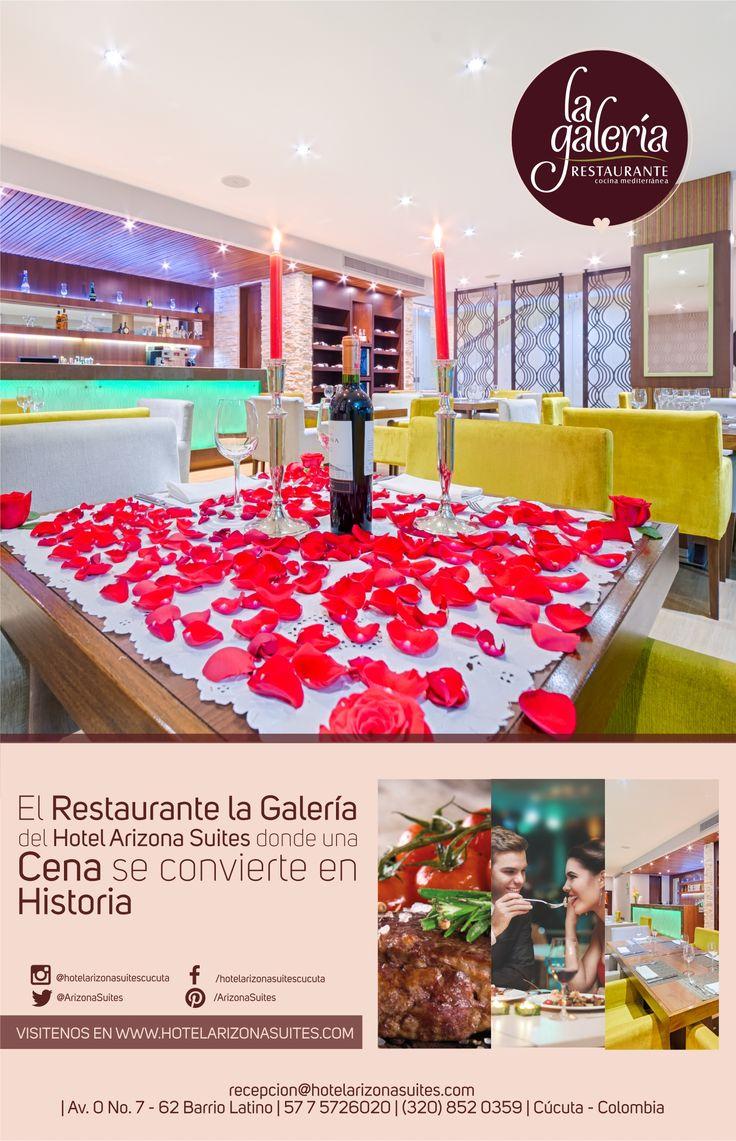 Las veladas inolvidables nacen y se hacen. Ven con tu pareja y disfruta un momento inolvidable en el #RestaurantelaGaleria y celebra #AmoryAmistad con una #CenaRomantica Reserva al 57 7 5726020 Ext 512 #Cucuta #Colombia #parejas #Novios #Aniversarios  https://goo.gl/9QA8zt