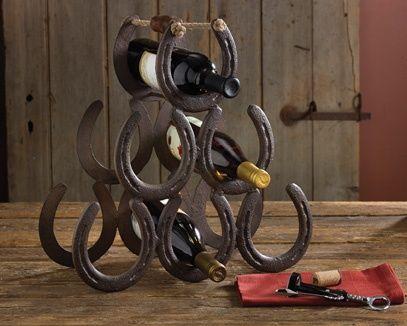 Western Horseshoe Wine Rack