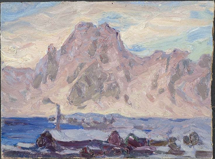 Lofoten in violet by Anna Boberg, c.1934. Nationalmuseum Sweden, CC BY-SA