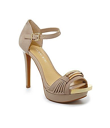 Gianni Bini Lenora Metal Sandals #Dillards. These are coming home either me  for sure