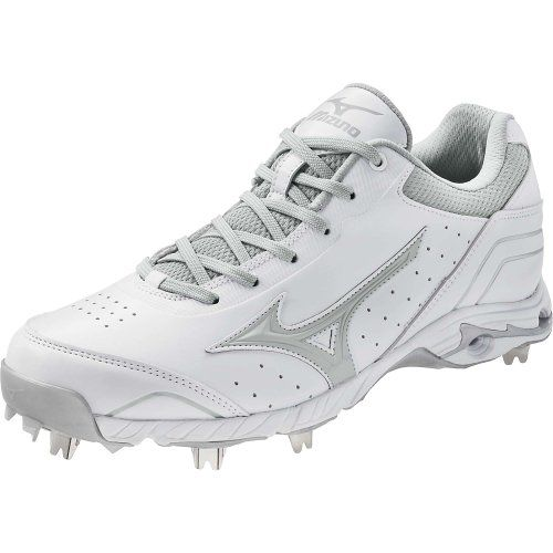 Black Friday Mizuno Men's Advanced Classic 7 Low Metal Baseball Cleats , White/Gray, 8  from Mizuno Cyber Monday
