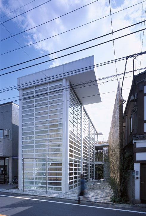 Glass Shutter House   Tokyo Japan   Located In A Commercial Area A Little  Distance Away