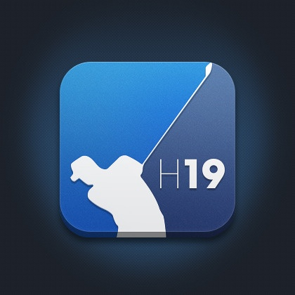 Hole19 Golf iOS Icon design by Pedro Lança. - Best Mobile Designers In The World | Scoutzie