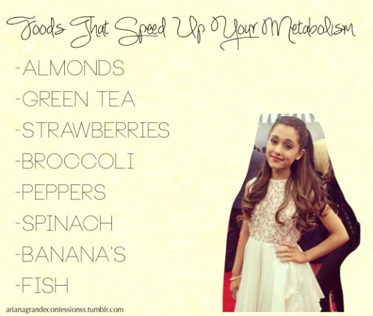 Goods that speed up your metabolism: Ariana Grande Confessions