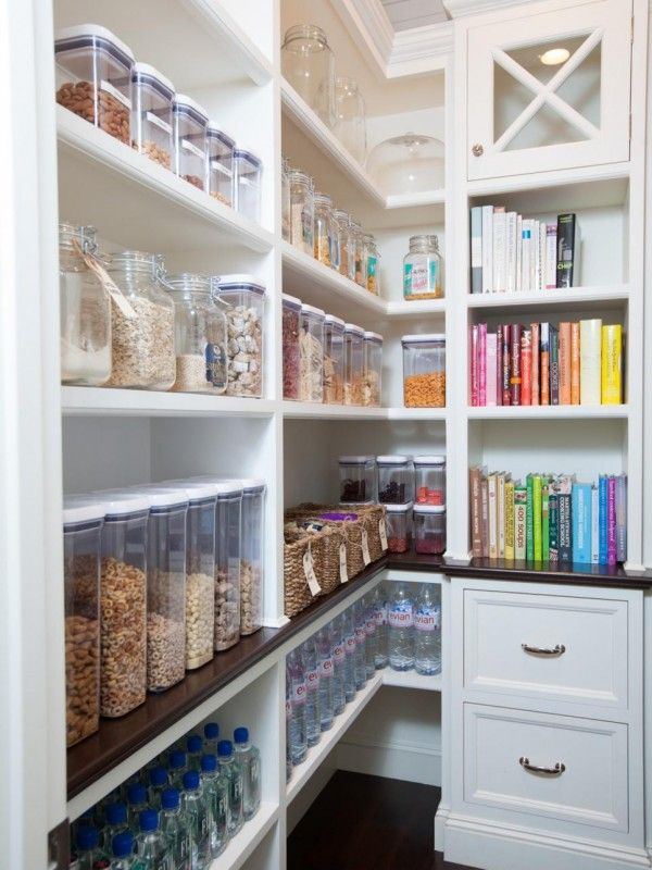 Beautiful organized pantry via HGTV, photo Michelle Drewes