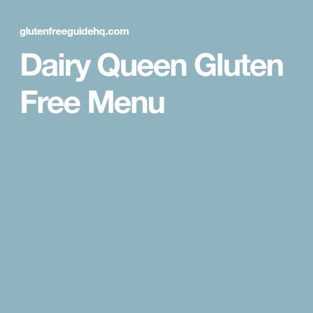 Dairy Queen Gluten Free Menu