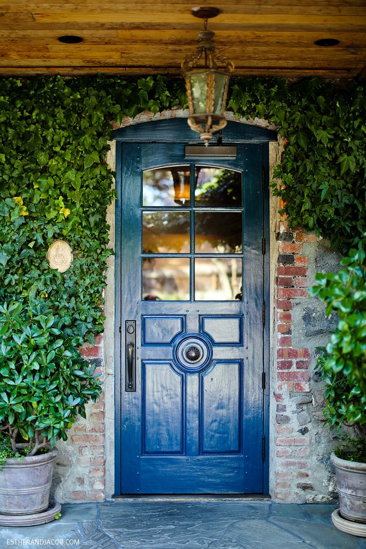 I am painting my front door this blue.  The Blue Door at the French Laundry Restaurant.