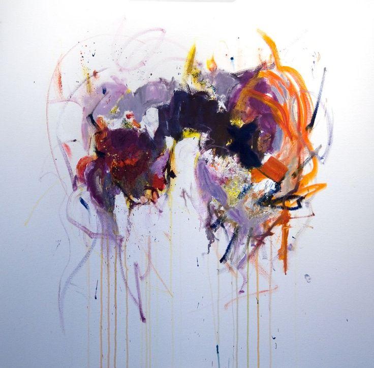 """coalesce 36"""" x 36"""" $ 1900 oil on canvas by Marlene Lowden"""