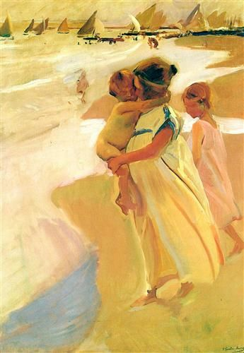 After bathing, Valencia - Joaquín Sorolla - Completion Date: 1908