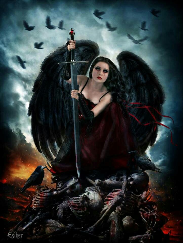 dark horror gothic angel - photo #22