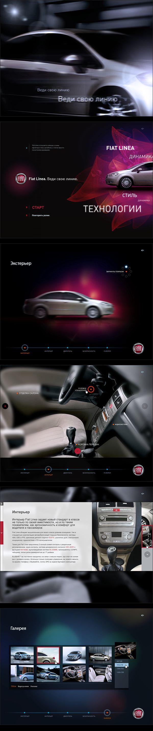 Fiat Linea presentation by Kravtsov Studio, via Behance