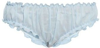 LOUP CHARMANT Frilled lightweight cotton briefs
