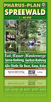Paddeln im Spreewald Freizeitkarte Burg Spreewald